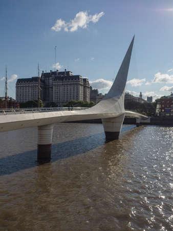 mujer: Buenos Aires, Argentina  - 20th October 2015: Puente de la Mujer. Editorial