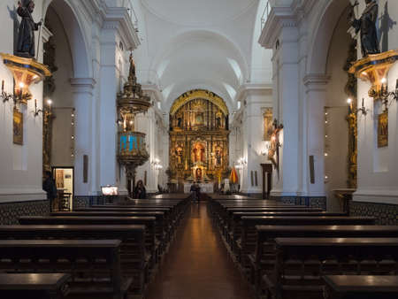 christian altar: Buenos Aires, Argentina  - 19th October 2015: Basilica de Nuestra Senora del Pilar.