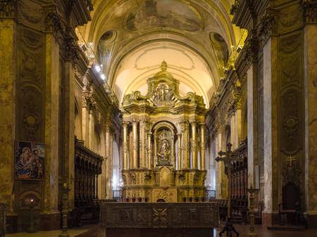 buliding: Buenos Aires, Argentina  - 20th October 2015: Metropolitan Cathedral, interior