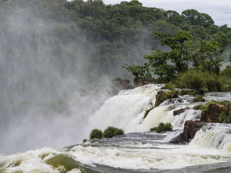argentinian: A view of the Iguazu falls from the Argentinian side