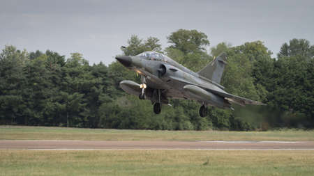 a mirage: Mirage 2000 jet fighter bomber in flight Editorial