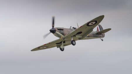 warbirds: Supermarine Spitfire fighter aircraft in flight