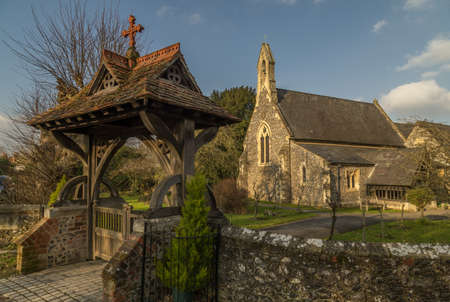 Cookham, UK - 13th March 2017: View of St John the Baptist Church, Cookham Dean, Berkshire UK. Editorial