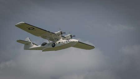 Biggleswade, UK - 7th May 2017: Vintage Catalina  in flight