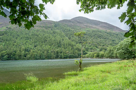 A landscape view of Buttermere, one of the lakes in the Lake District, Cumbria, United Kingdom.