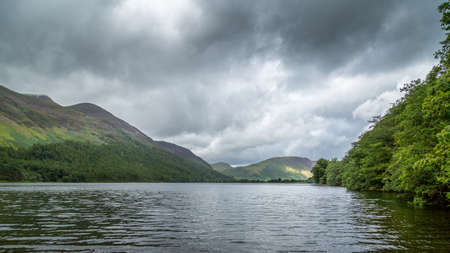 cumbria: A landscape view of Buttermere, one of the lakes in the Lake District, Cumbria, United Kingdom.