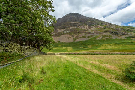 cumbria: A landscape view of the area around Crummock Water, one of the lakes in the Lake District, Cumbria, United Kingdom. Stock Photo