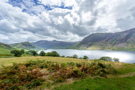 cumbria: A landscape view of Crummock Water, one of the lakes in the Lake District, Cumbria, United Kingdom. Stock Photo