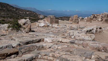 Ancient remains of Dorian city-state at Lato, NE Crete Banco de Imagens