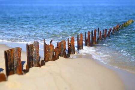breakwater: breakwater on beach