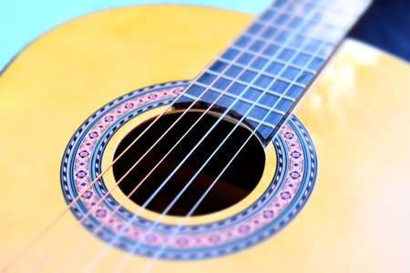 focus on a guitar