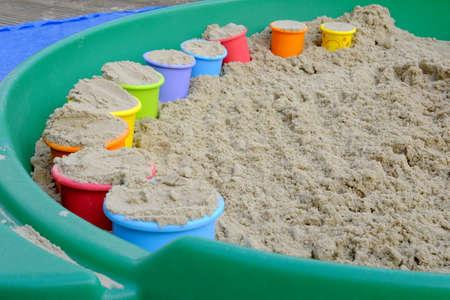 Colorful pails Stock Photo