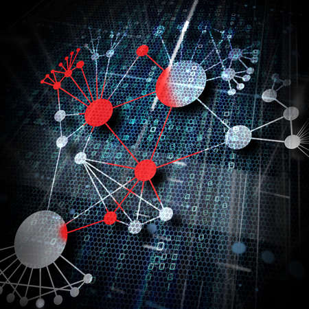 cyber: virus spreading out in a network