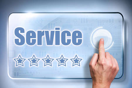 good service: customer sending a five star rating for good service