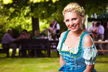tracht: attractive young woman in a dirndl