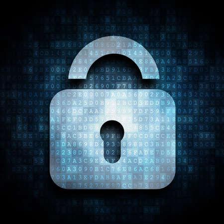 pad lock: digital lock