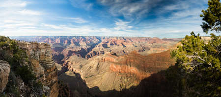 panoramic view from the south rim over the grand canyon photo