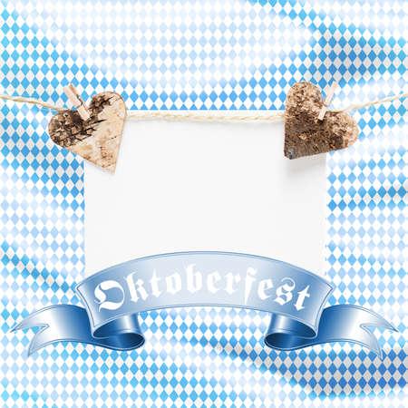Oktoberfest banner with an empty card photo