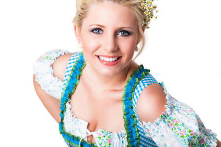 attractive young girl in a dirndl  photo