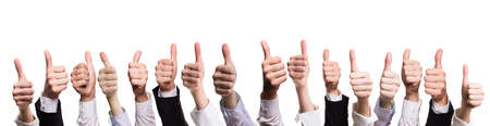 many thumbs up Banque d'images