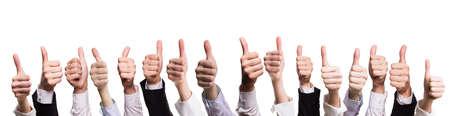 thumbs up: many thumbs up Stock Photo