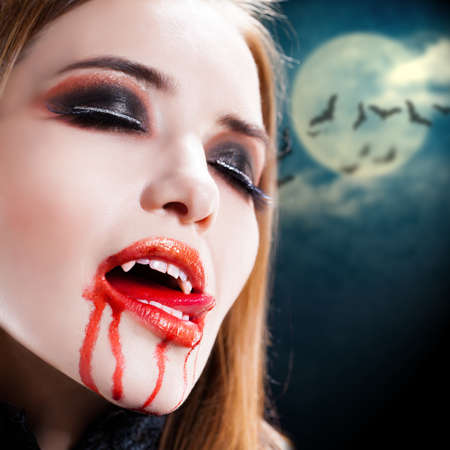 sexy vampire: attractive vampire lady
