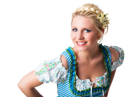 attractive young girl in a dirndl  스톡 콘텐츠