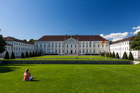 schloss: Castle Bellevue in Berlin Editorial
