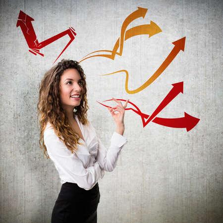 businesswoman having many ideas  photo