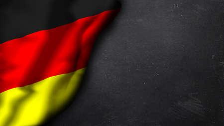 Duitse vlag op de top van een schoolbord Stockfoto - 30843949