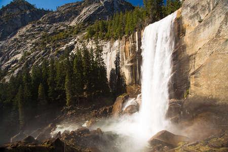 vernal: Vernal Fall in Yosemite National Park  Stock Photo