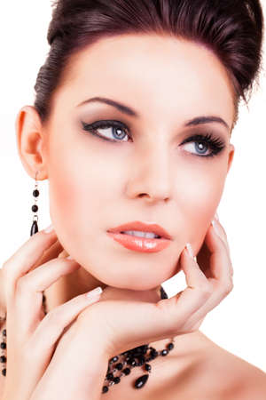 attractive woman with extensive styling  photo