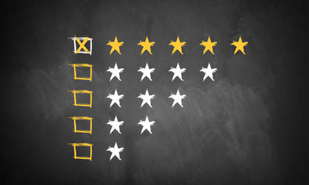 five star: five star rating  Stock Photo