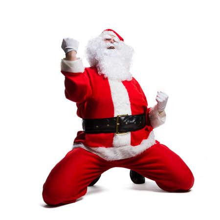 rejoicing: Santa Claus rejoicing
