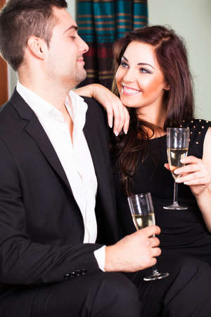 looking after: flirting couple at a party