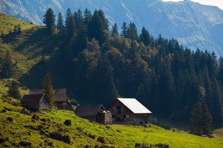 hillwalking: Swiss Alpine landscape