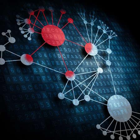 ネットワークで広がるウイルス感染