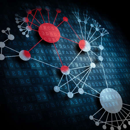 Virusinfektion Ausbreitung im Netzwerk