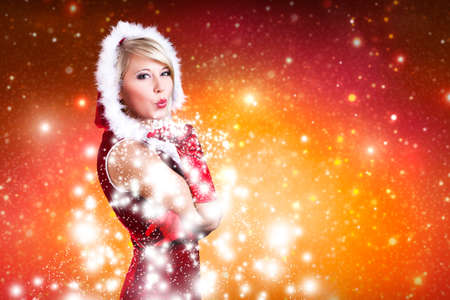 attractive miss santa  photo
