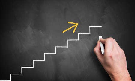 job ladder symbolizing a way of the career photo
