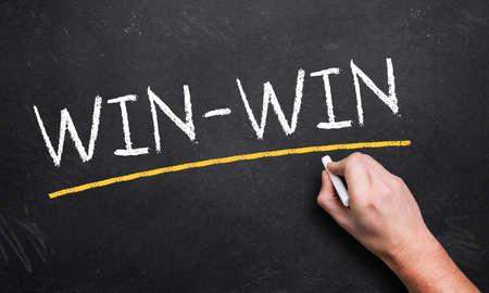win: win-win written on a chalkboard