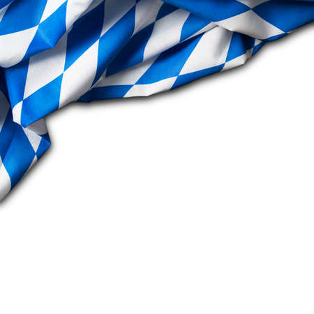 checker flag: bavarian tablecloth on isolated background