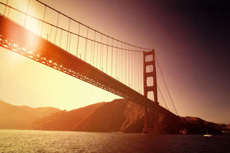 cable bridge: Golden Gate Bridge in San Francisco
