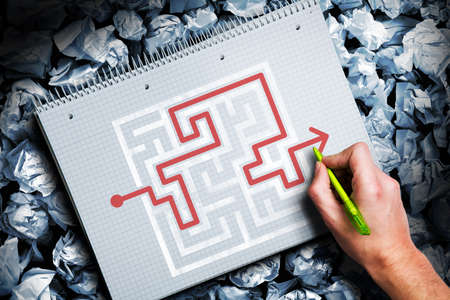 solution of a maze photo