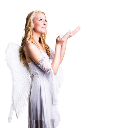sexy glamour model: attractive blonde angel
