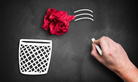 het weggooien van een idee
