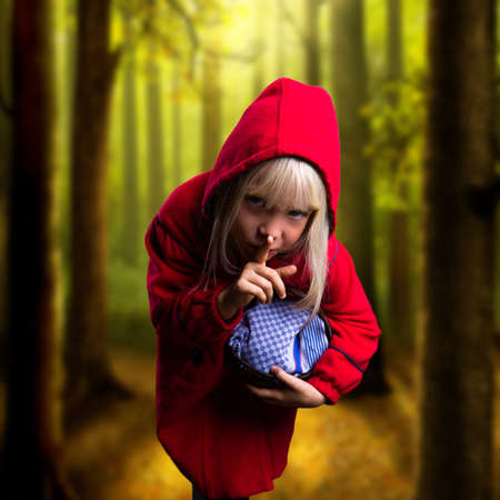 little red riding hood in modern clothes