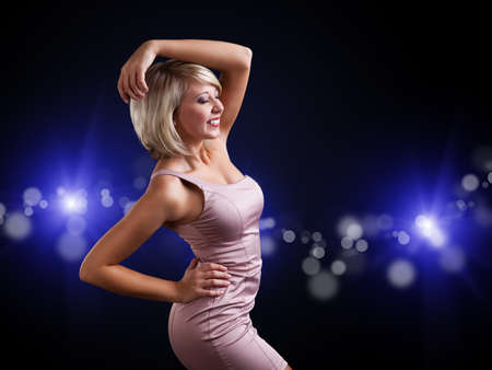 attractive young dancing girl photo