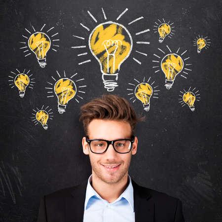 young man having many ideas