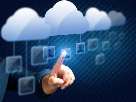word of mouth: Selecting a person is in a cloud network